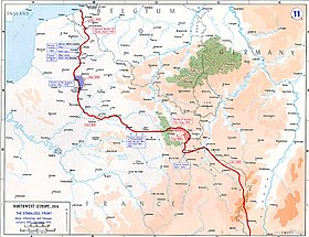 Map of the Western Front, 1915–16