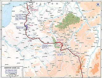 4th Infantry Division (United Kingdom) - Map of the Western Front, 1915–16
