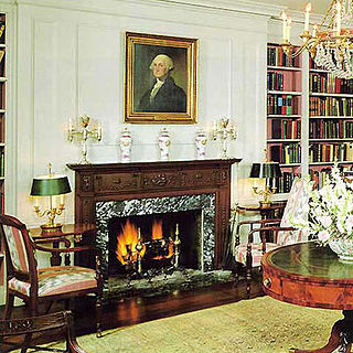 White House Library library room in the White House, Washington D.C.