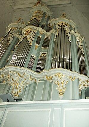 St. Gumbertus, Ansbach - Wiegleb organ