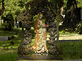 Wien-Simmering - Zentralfriedhof - rostige Grabfigur hl Maria.jpg