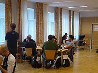 Wikimedia Hackathon Vienna 2017 attendees 15.jpg