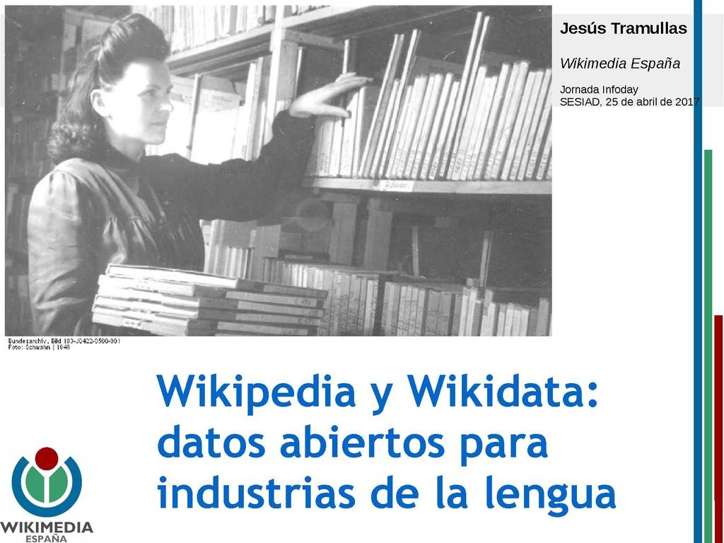 Wikipedia y Wikidata datos abiertos para industrias de la lengua