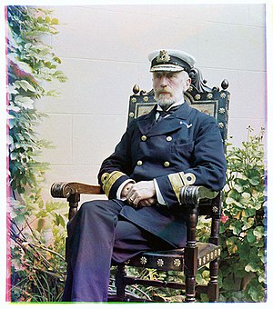 Sir William Acland, 2nd Baronet - An early colour photo taken in 1903 by his sister