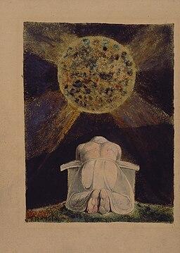 William Blake - Sconfitta - Frontispiece to The Song of Los - Original LoC scan