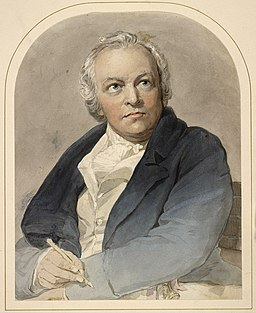 William Blake watercolor portrait