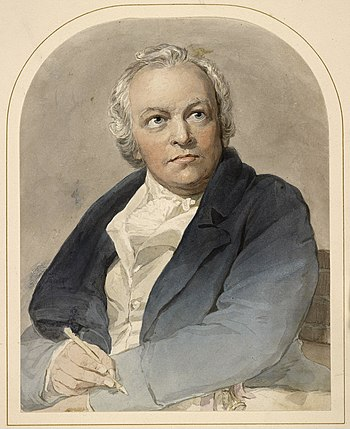 Portrait of William Blake, Watercolour on paper
