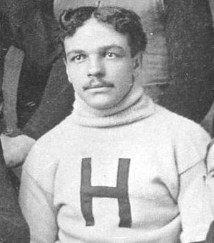 William H. Lewis - Lewis cropped from 1892 Harvard football team photograph