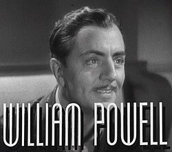 William Powell elokuvan trailerissa.