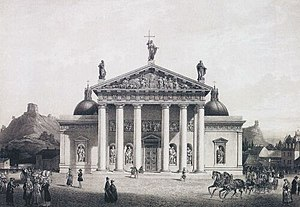 History of Vilnius - Vilnius Cathedral in 1847