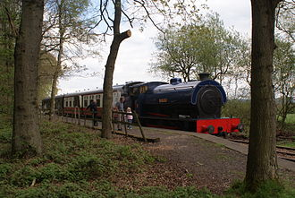 Foxfield Railway - Image: Wimblebury on the Foxfield Railway 2009 04 26