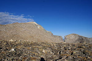 Wind River Peak - Wind River Peak, as seen from near Chimney Rock on the ascent