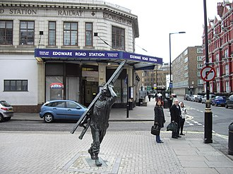 Allan Sly - Image: Window Cleaner Sculpture outside Edgware Road Underground Station geograph.org.uk 1635436