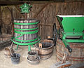 Wine press in the Szatmár Museum.JPG