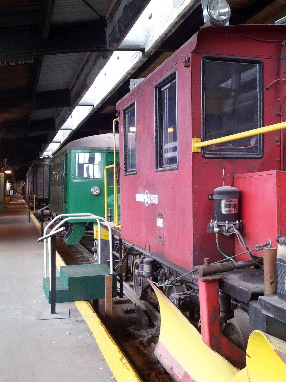 Winnipeg Hydro train at Winnipeg Railway Museum