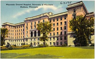 University of Wisconsin Hospital and Clinics - Wisconsin General Hospital in the 1930s