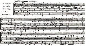 Joseph Wölfl - Romanza of the Opera Das schöne Milchmädchen