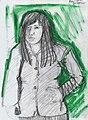 Woman on Streetcar NOLA Oldersketchbook32 2001.jpg