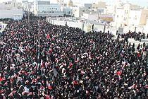 Women taking part in a pro-democracy sit in in Sitra.jpg