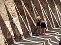 Women with Jagged Shadows - Palma de Mallorca - Mallorca - Spain (14458807146).jpg