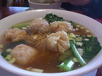 云吞汤面 Wonton Noodle Soup
