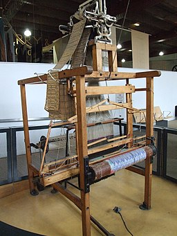 Wooden Jacquard loom