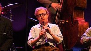 Woody Allen at jazz concert in Lisbon, Portugal