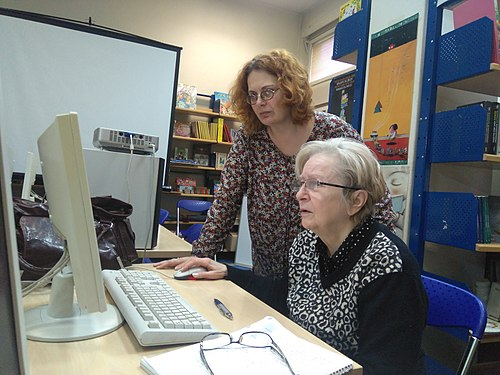 Workshop in project Wiki Senior in the Belgrade City Library 18.jpg