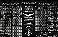 World War II scoreboard of USS Cabot (CVL-28), in 1945.jpg