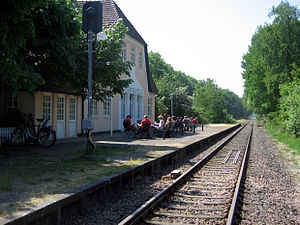 Worpswede - Worpswede railway station, 2007