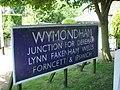 Wymondham station sign - geograph.org.uk - 1335817.jpg
