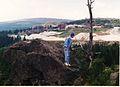 Wysoka Kopa, kopalnia kwarcu Stanislaw ze szczytu Zwalisko, 24.7.1997r.jpg