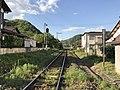 Yamaguchi Line and Tsuwano Station from Imaichi Crossing.jpg
