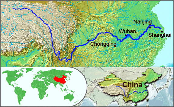 Yangtze River Map