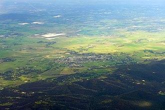 Yarra Glen, Victoria - Aerial view of Yarra Glen
