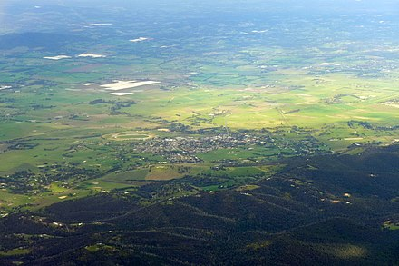 Aerial view of Yarra Glen