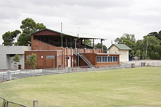 Yarraville Oval - Image: Yarraville Oval stand 1a