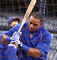 Yoenis Cespedes takes BP on -WSMediaDay (22923836891).jpg