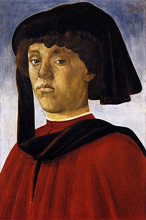 Portrait of a Young Man (Botticelli, Pitti Palace) - Image: Young Man Botticelli