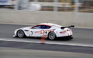 2010 RAC Tourist Trophy - The No. 7 Young Driver Aston Martin was the initial Championship Race winner prior to exclusion