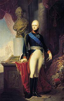 Portrait of Grand Duke Alexander Pavlovich, 1800, by Vladimir Borovikovsky (Source: Wikimedia)