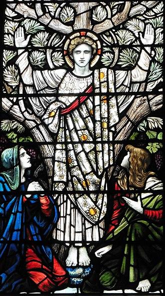 William Blake Richmond - Youth, Holy Trinity Church, London