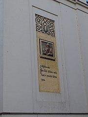 Reliéf J. A. Komenského na ZŠ T. G. Masaryka