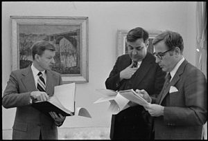 Bert Lance - Lance (center) with National Security Advisor Zbigniew Brzezinski and Defense Secretary Harold Brown