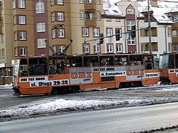 Zima 2007 - Wrocław - Konstal 105Na