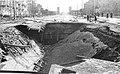 Zniszczony tunel kolei średnicowej pod Alejami Jerozolimskimi 1945.jpg