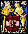 Zurigo o sciaffussa, pannello araldico d'austria uomo e danna selvaggi, 1500-20 ca.JPG