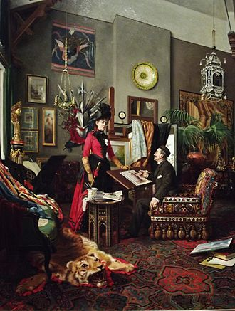Crocker Art Museum - In the Artist's Studio by Édouard-Antoine Marsal (French, 1845–1929). Part of the collection of European art at the Crocker Art Museum.