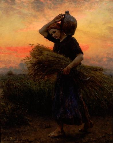 'Dawn', oil on canvas painting by Jules Breton, 1896, Carnegie Museum of Art, Pittsburgh