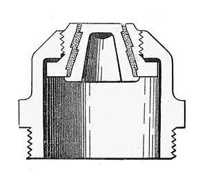 Fusible plug - Fusible plug with a core